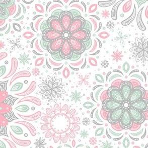 Zen Garden (Pink and Mint)