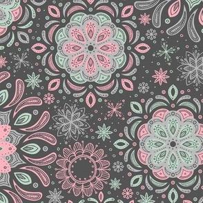 Zen Garden (Pink and Mint Dark)