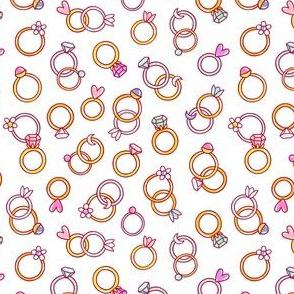 Shiny diamond rings, cartoon pattern