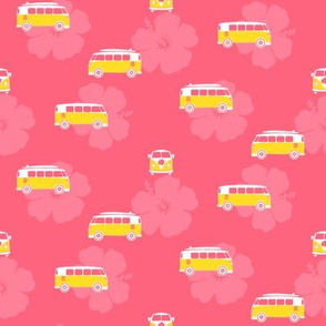 Campervans on Pink