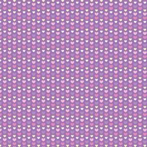 Tiny purple pink hearts