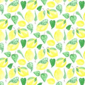 17-07K Lemon lemonade yellow fruit food citrus summer small_Miss Chiff Designs