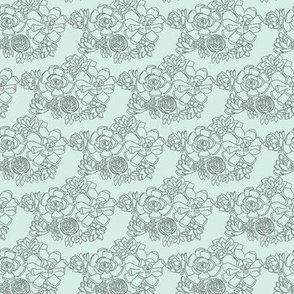 Small Succulent Mint Green Hand Drawn Floral Botanical  Illustration Cactus Flower _ Miss Chiff Designs
