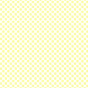 16-13J Lemon Yellow Polka Dot Fruit on White_Miss Chiff Designs