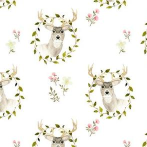 Woodland deer floral