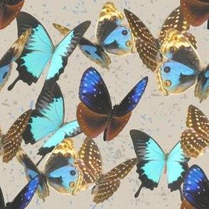 Scattered Butterflies on Beige