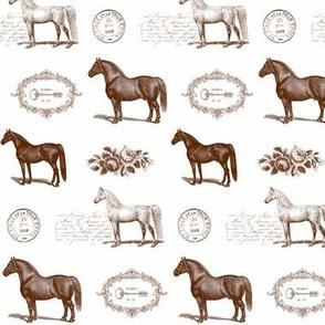 Paris Horses in Brown