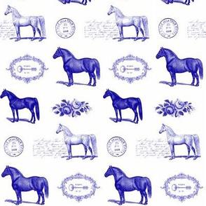 Paris Horses in Blue