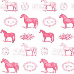Paris Horses in Pink