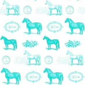 Paris Horse in Turquoise