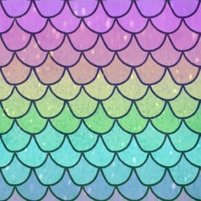 rainbow glitter mermaid
