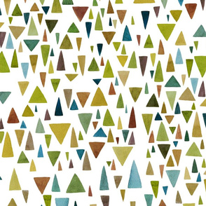 Watercolor greenery triangle fantazy