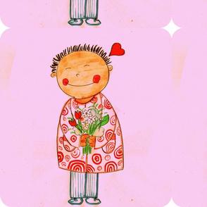 valentino's smile pillow size