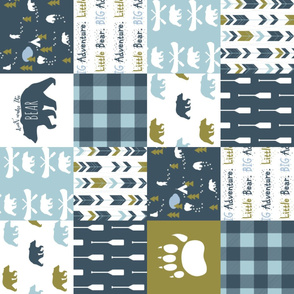 Don't Wake the BEAR (rotated 90) Cheater Quilt