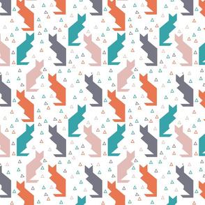 Cats tangram pastel