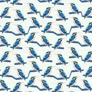 geodesic kingfisher blue and white