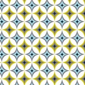 Astral - Mid Century Modern Geometric Blue