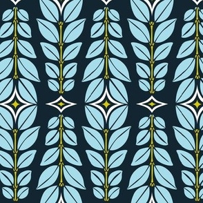 Cortlan - Retro Leaf Geometric Blue