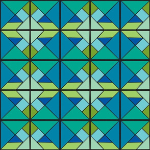 Blue Green Tangram