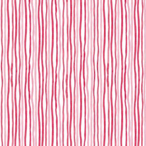 Watercolor stripes in red