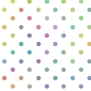 Bright Rainbow Watercolor Dots Pattern