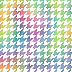Bright Rainbow Watercolor Houndstooth Pattern