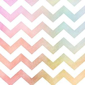 Pastel Rainbow Watercolor Chevron Pattern 1