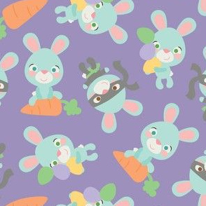 Blue Easter Bunnies