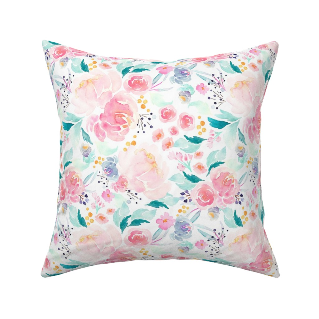 Catalan Throw Pillow featuring Indy Bloom Design Mermaid Lagoon C by indybloomdesign