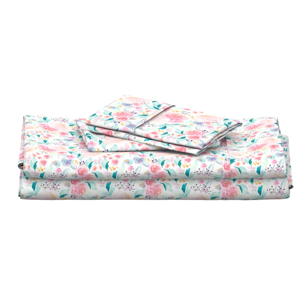Langshan Full Bed Set featuring Indy Bloom Design Mermaid Lagoon B by indybloomdesign