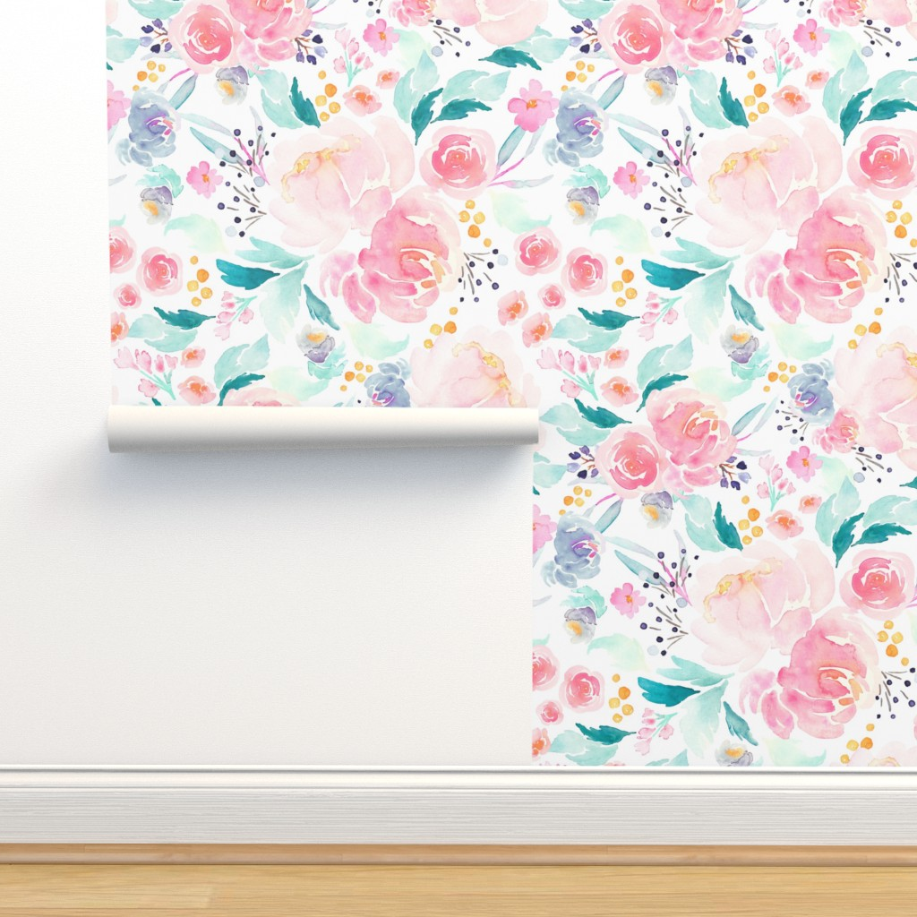 Isobar Durable Wallpaper featuring Indy Bloom Design Mermaid Lagoon B by indybloomdesign