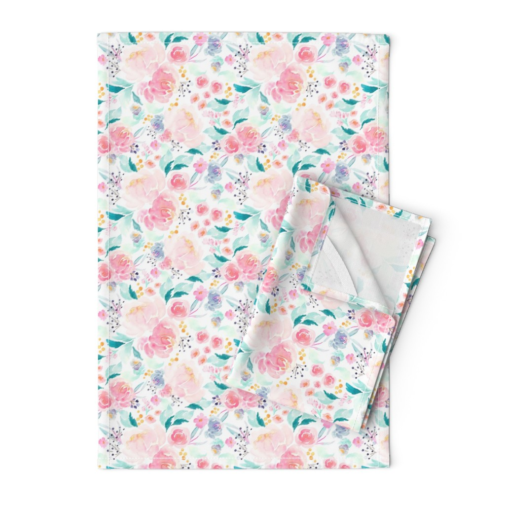 Orpington Tea Towels featuring Indy Bloom Design Mermaid Lagoon B by indybloomdesign
