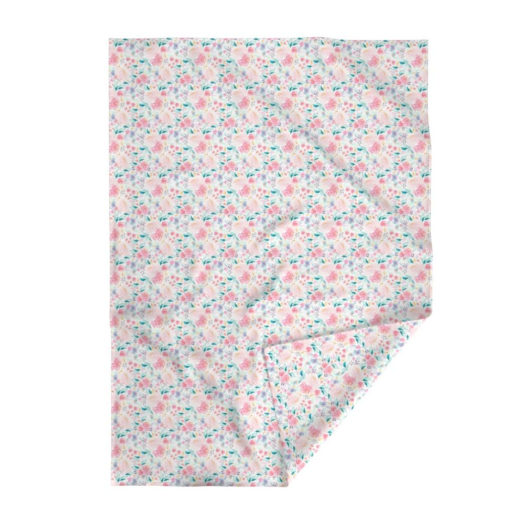 Lakenvelder Throw Blanket featuring Indy Bloom Design Mermaid Lagoon B by indybloomdesign