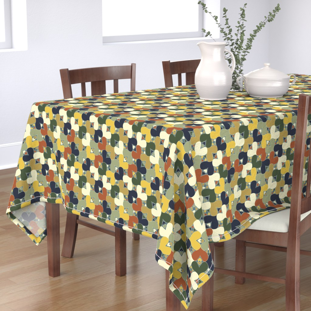 Bantam Rectangular Tablecloth featuring Bayeux Hearts by eclectic_house