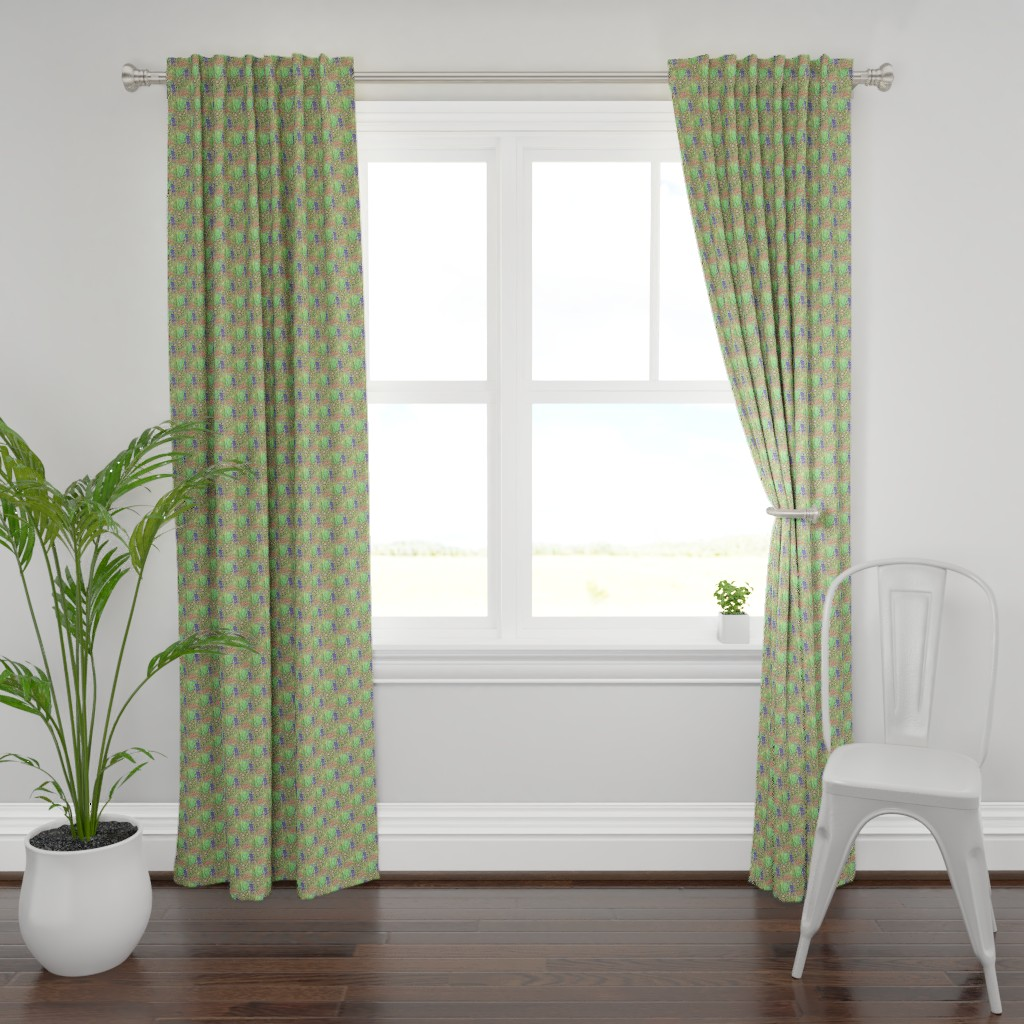 Plymouth Curtain Panel featuring Agapanthus by toffeeappletextiles