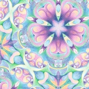Pentagon flower trellis