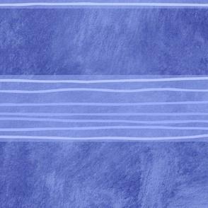 Blue Hand-Drawn-Stripes XL