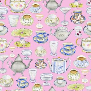 tea and cocktails light pink
