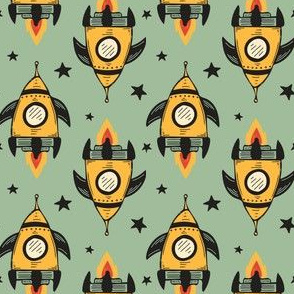 Yellow Space Ships, no.1, Large