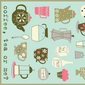coffee, tea or me dish towel