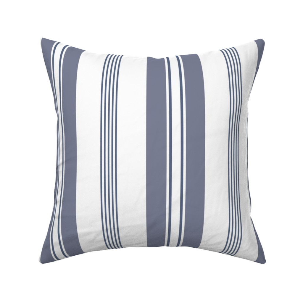 Stripes French Ticking Purple On Catalan By