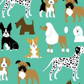 Dogs on mint