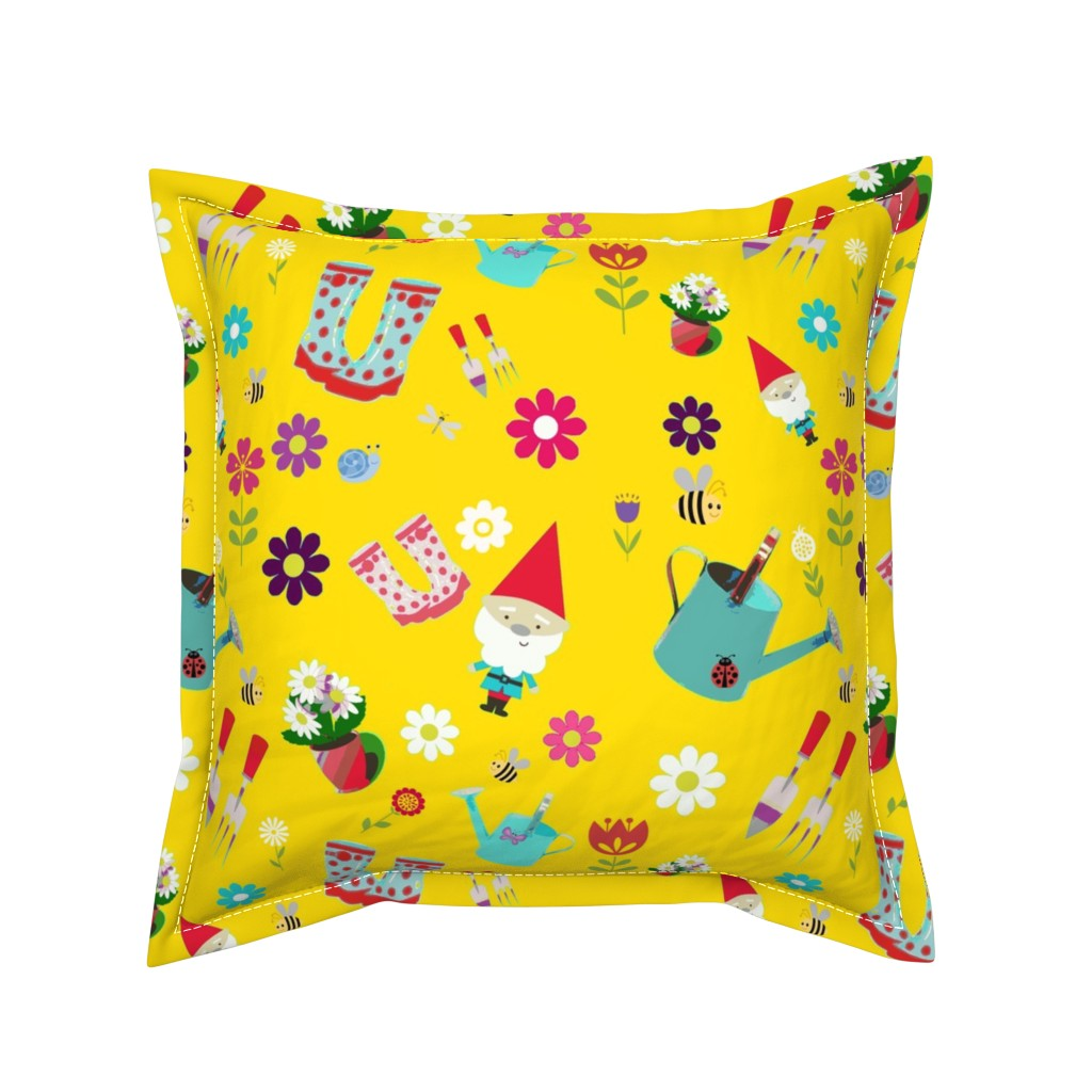 Serama Throw Pillow featuring Love makes the Garden Grow by floramoon