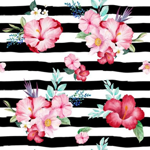"10.5"" Surfer Girl Florals / Extra Florals / Black & White Stripes"