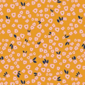 Poppy patches in mustard