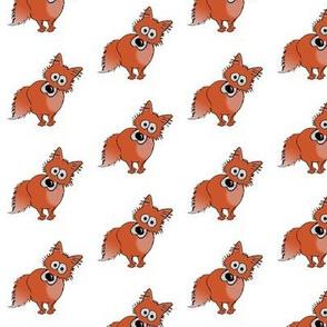 Red fox cartoon.