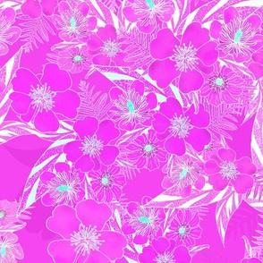 Silky Floral Magenta 300