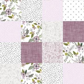 lavender sprigs patchwork wholecloth