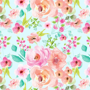 extra large floral mint background