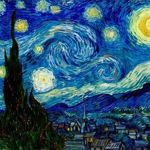 "10x12"" The Starry Night Van Gogh"